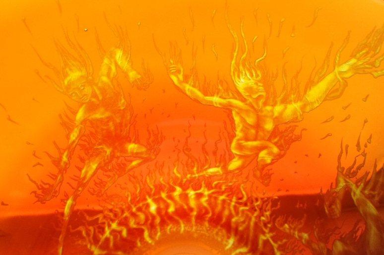 Fire Dancers detail 4